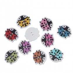Wood Ladybug 20pcs BUT-102