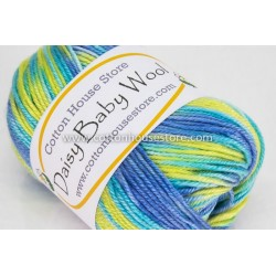 Daisy Baby Wool Mixed Blue Yellow 801