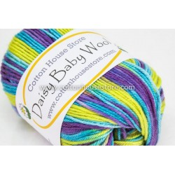 Daisy Baby Wool Mixed Blue Purple Yellow 802