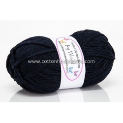Ivy Wool A34 Blue Black 100g