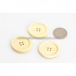 Wood Pale Brown Big Button 30mm (5pcs) BUT-106