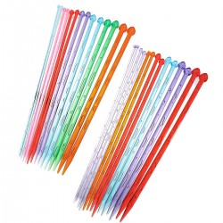 7 Pairs 35cm Plastic Knitting Needles (LONG) CK-753