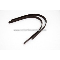 Imitation Leather Handles 158 Espresso 55cm (2pcs)