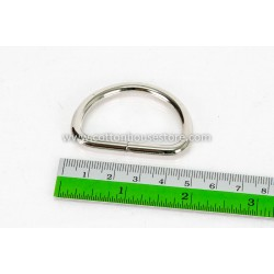 Silver Tone D Ring 48mm x 35mm (2pcs)