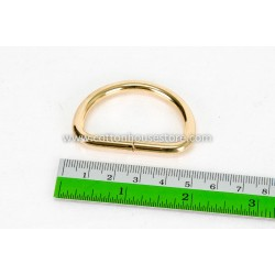 Gold Tone D Ring 48mm x 35mm (2pcs)