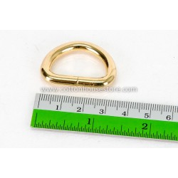 Gold Tone D Ring 35mm x 25mm (2pcs)