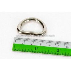 Silver Tone D Ring 35mm x 25mm (2pcs)