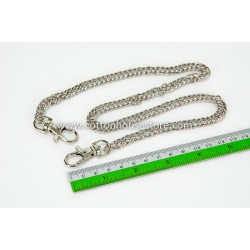 Purse Chain Handle Silver Tone 60cm