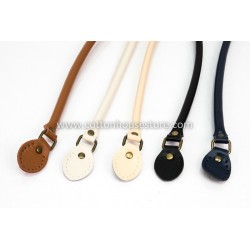 Leather Handbag Handles Black 50cm (2pcs)
