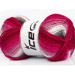 Rainbow Fuchsia Pink White Grey