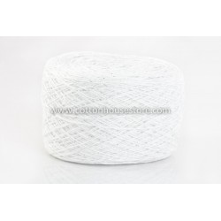 Fine Cotton 009 White with Metallic (80gm)