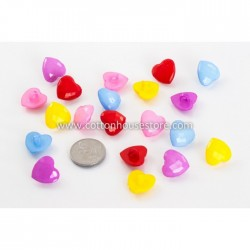 Heart Shank Buttons 20pcs BUT-005