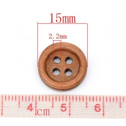 Medium Brown Wood Buttons...