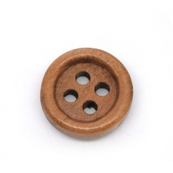 Medium Brown Wood Buttons 15pcs 15mmx15mm BUT-012