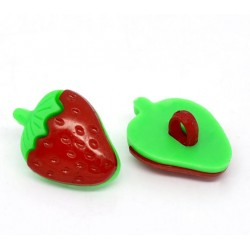 Red Strawberry Shank Buttons 10pcs BUT-003