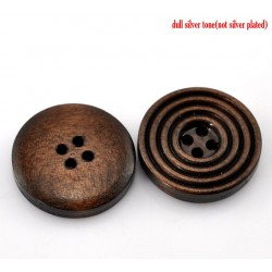 Round Wood Buttons 20mm...