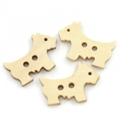 Wood Dog 10pcs BUT-048