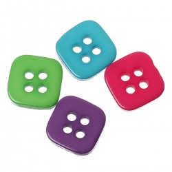 Square 4 Holes Resin 20pcs BUT-072