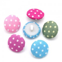 Cloth Dot Mixed Shank Button 20pcs BUT-055