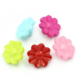 Acrylic Daisy Flower Mix 16mmx16mm (20pcs) BUT-056