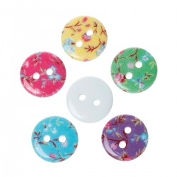 Flower Pattern 13mm 20pcs BUT-071