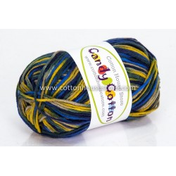 Candy Cotton Blue Dark Green Yellow S07