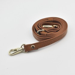 Leather Messenger Shoulder Strap Light Brown w/ Lobster Clasp BGH-186