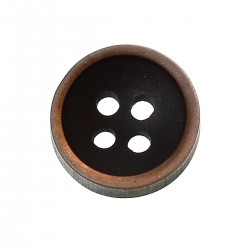 Resin Round Black 4 Holes 10mm 20pcs BUT-110