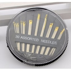 30 Assorted Sewing Needles (Black)