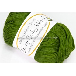 Daisy Baby Wool Green S29