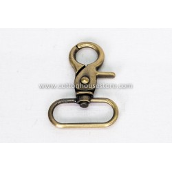 Swivel Snap Hook Bronze Tone 37mm x 52mm 2pcs 221