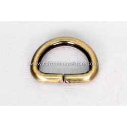 Thick Brass Tone D Ring 13mm x 12mm (4pcs) 223