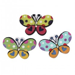 Butterfly Wood 30mm x 20mm 5pcs 113