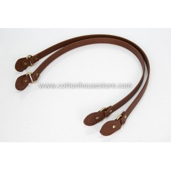 Leather Handbag Handles 240 Brown 75cm (2pcs) Flat Middle