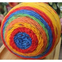 Cake Yarn Acrylic 85gm 20 Orange Red Blue Green Yellow