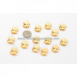 Cat 2 Holes Wood Button 17x16mm (10pcs) BUT-039