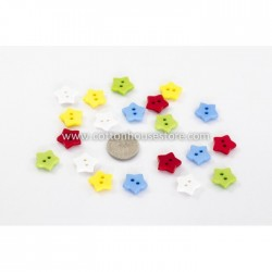 Star Resin Button 15x15mm (20pcs) BUT-043