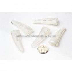 White Horn Buttons (5pcs) BUT-022