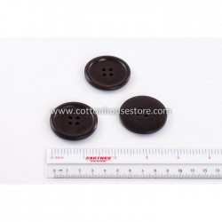 Wood Dark Brown Big Button 40mm BUT-034 (3pcs)
