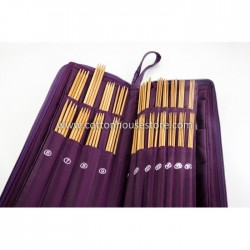 Bamboo Knitting Needle Set with Case CK-186