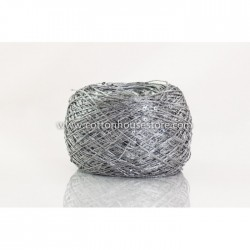 Fine Cotton 242 Grey Nylon w/ Silver Sequin