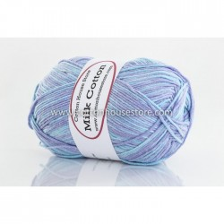 Milk Cotton Series Mixed Bubble Blue 58