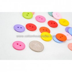 Mixed Round Resin Buttons 23mm (20pcs) BUT-015