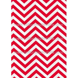 Cotton Fabric 20063 Big Zig Zag Red 4m