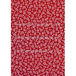 Cotton Fabric 30029-R Flower Red BG