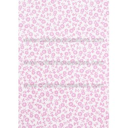 Cotton Fabric 30034-R Flower Light Pink