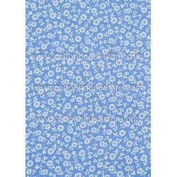 Cotton Fabric 30032-R Flower Blue