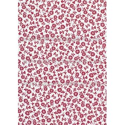 Cotton Fabric 30033-R Flower Red