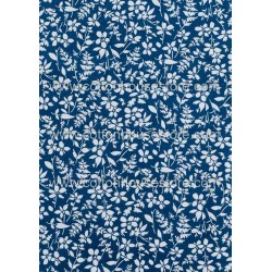 Cotton Fabric 30044-R Flower Blue BG
