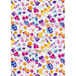 Cotton Fabric 30064-H Flowers 1m
